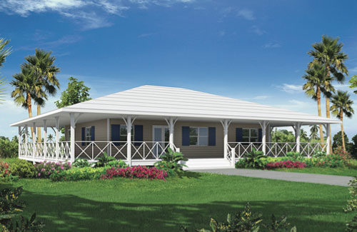Point house wrinkle development for Island style home plans